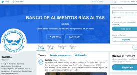 Redes Sociales Twitter para el Banco de Alimentos Rías Altas