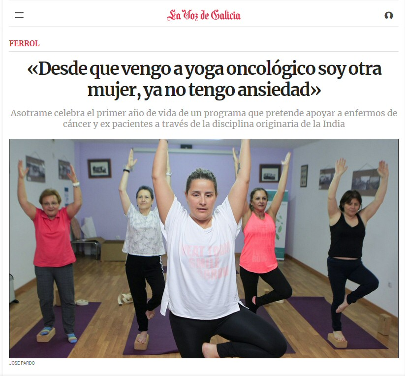 Curso yoga cáncer Ferrol