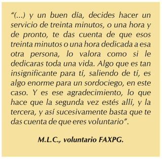 Experiencia de un voluntario